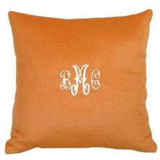 Cashmere Orange Pillow Personalized