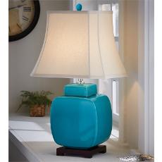 Ceramic Jar Lamp- Turquoise