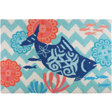Key West Chevron Fish Accent Rug