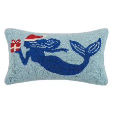 Christmas Mermaid Hook Pillow