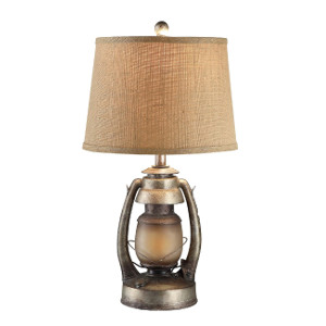 "Antique ""Oil Lantern"" Table Lamp"