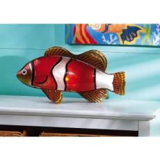 Glass and Metal Clown Fish Lamp