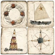 Botticino Decorative Nautical Coasters, II