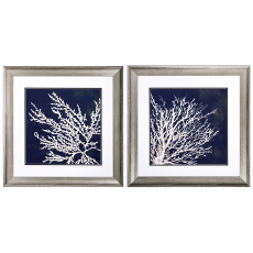 Coastal Coral Framed Art Set of 2