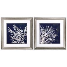 Coastal Coral Framed Art Set of 2