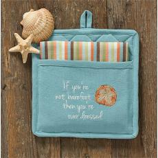 If You're Not Barefoot Pocket Towel/Potholder Set