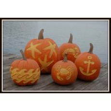 Coastal Crafted Decorative Pumpkin