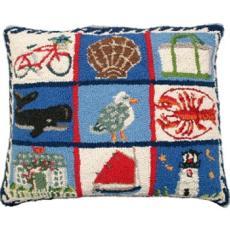 Coastal Quilt Hook Pillow
