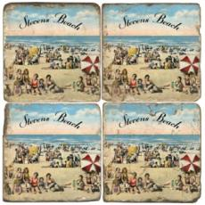 Personalized Beach Drink Coasters