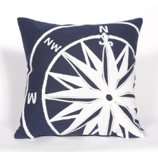 Compass Indoor Outdoor Pillow