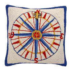 Compass Rose Hand Hook Pillow