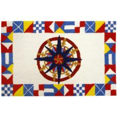 Nautical Compass Accent Rug