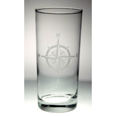 Compass Rose Cooler  Glass 15oz set of 12
