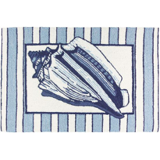 Conch Shell on Stripes Rug