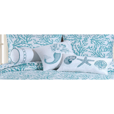 Cora Blue Bedding Accessory Pillows Set of 3