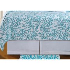Cora Blue Dust Ruffle Bed Skirt