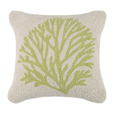 Coral Green Hook Pillow