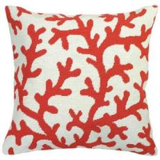 Coral Coral Needlepoint Pillow