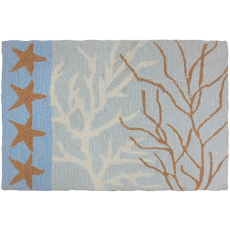 Coral and Stars Accent Rug