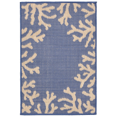 Coral Border Marine Indoor / Outdoor Rug