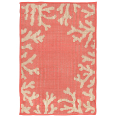 Coral Border Coral Indoor / Outdoor Rug
