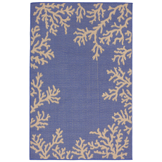Terrace Coral Border Marine Indoor Outdoor Rug