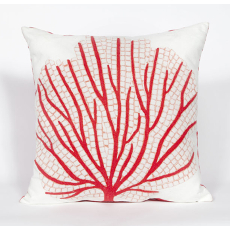 Coral Fan Coral Indoor Outdoor Pillow