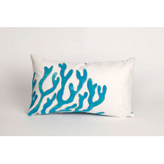 Blue Coral Oblong Indoor Outdoor Pillow