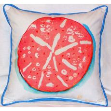 Coral Sand Dollar Indoor Outdoor Pillow