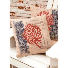 Coral Coastal Ship Pillow