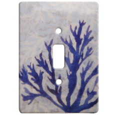 Coral Ceramic Single Switch Wall Plate
