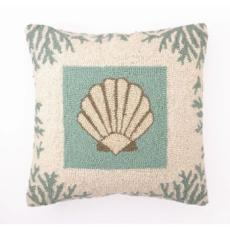 Coral Sealife Shell Hook Pillow