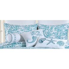Cora Blue Sham Pillow Case