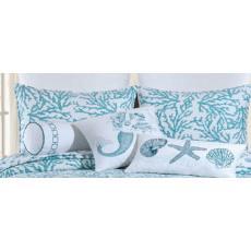 Cora Blue Sham Pillow Case