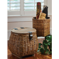 Covered Basket and Planter Set of 2