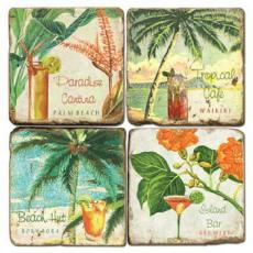 Tropical Drinks Coasters S/4
