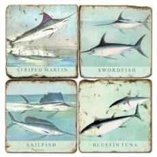 Big Fish Marble Coasters