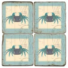 Crab Stamped Coasters
