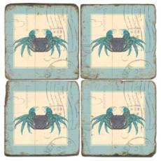 Crab Stamped Coasters