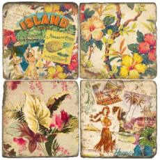 Tropical Island Coasters S/4