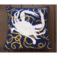 Crab n Rope Indoor Outdoor Pillow