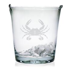 Crab Etched Ice Bucket