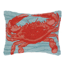 Blue Ocean Crab Hook Pillow
