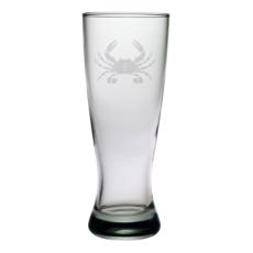 Crab Etched Grand Pilsner Glasses (set of 4)