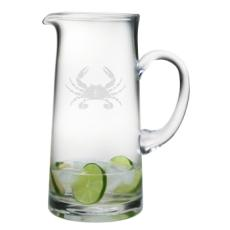 Crab Etched Tankard Pitcher
