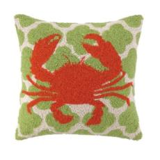 Crab on Linked Pattern Pillow