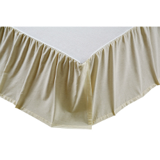 Chambray Creme Solid Bedskirt