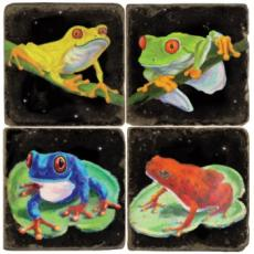 Frog Coasters, set of 4