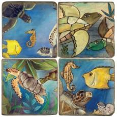 Underwater Fun Coasters, set of 4
