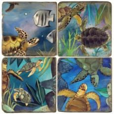 Underwater II Fun Coasters, set of 4